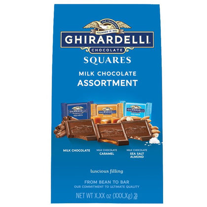 Ghirardelli Milk Chocolate Assortment Squares, 8.2oz