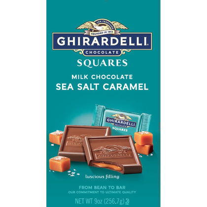Ghirardelli Milk Chocolate Sea Salt Caramel Squares, 9oz