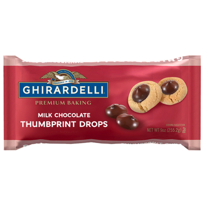 Ghirardelli Milk Chocolate Thumbprint Drops, 9oz