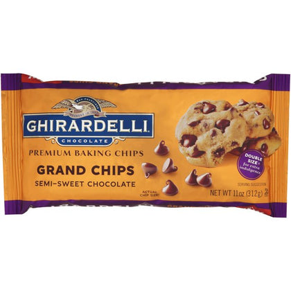 Ghirardelli Semi-Sweet Chocolate Grand Chips, 11oz