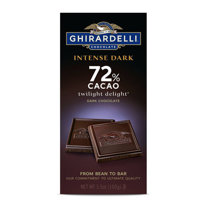 Ghirardelli Intense Dark 72% Cacao Chocolate Bar, 3.5oz