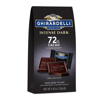 Ghirardelli Intense Dark Chocolate Squares, 72% Cacao, 4.87 oz