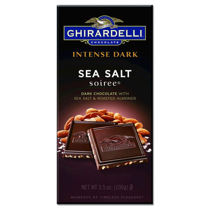 Ghirardelli Intense Dark Chocolate w/ Sea Salt and Roasted Almond Bar, 3.5oz