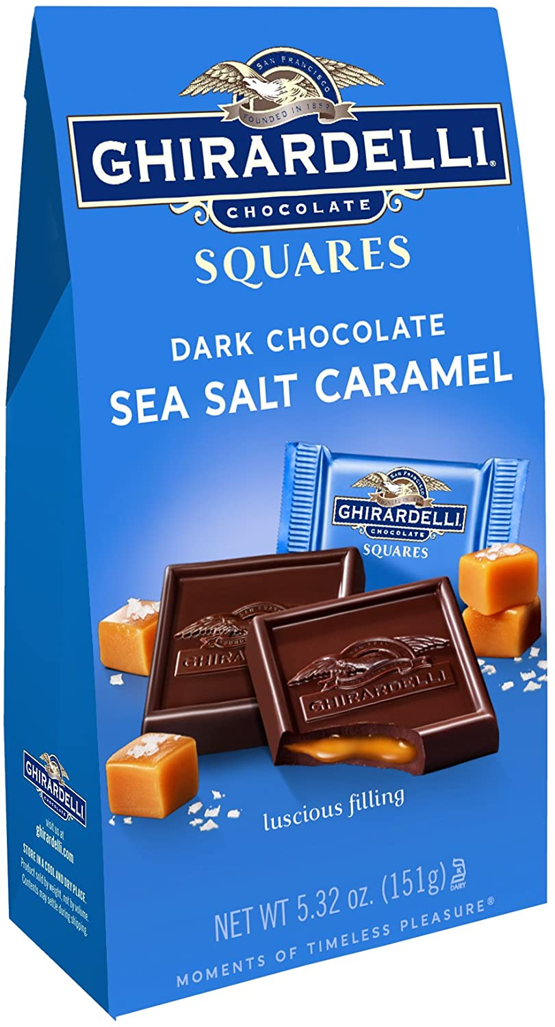 Ghirardelli Squares Dark & Sea Salt Square Caramel, 5.32 Oz