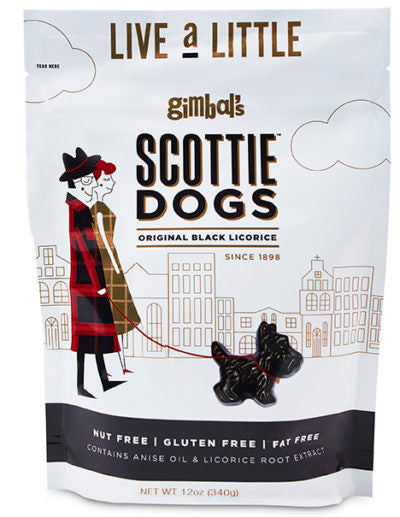 Gimbal's Scottie Dogs Original Black Licorice, 12oz
