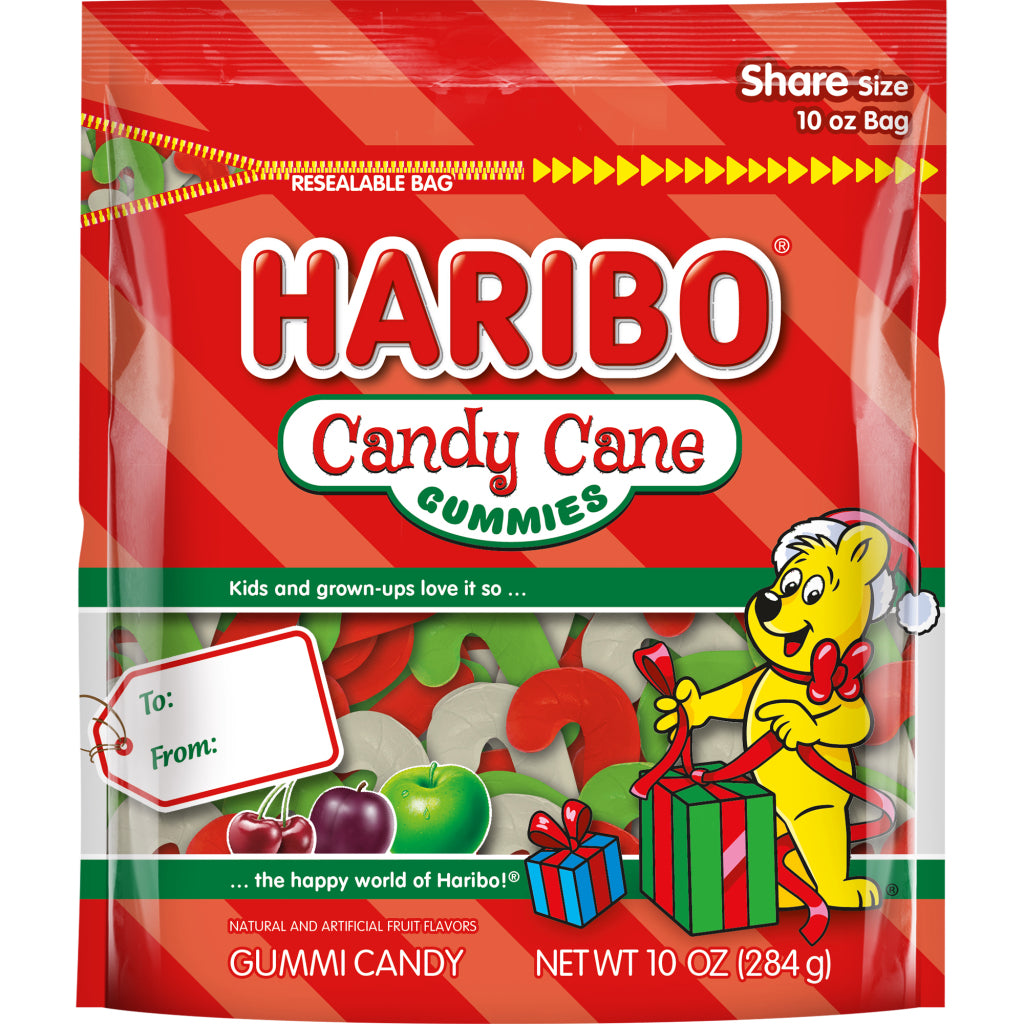 Haribo Candy Cane Gummies, 10oz