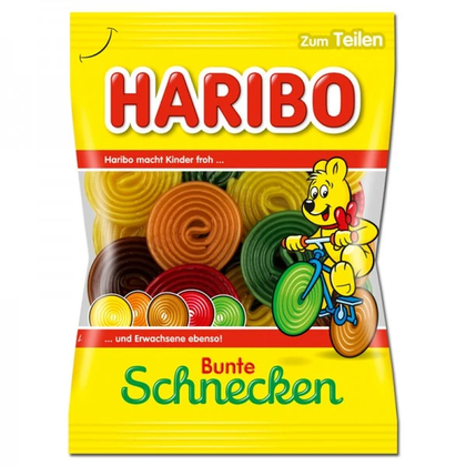 Haribo Bunte Schnecken, 175g (Product of Germany)