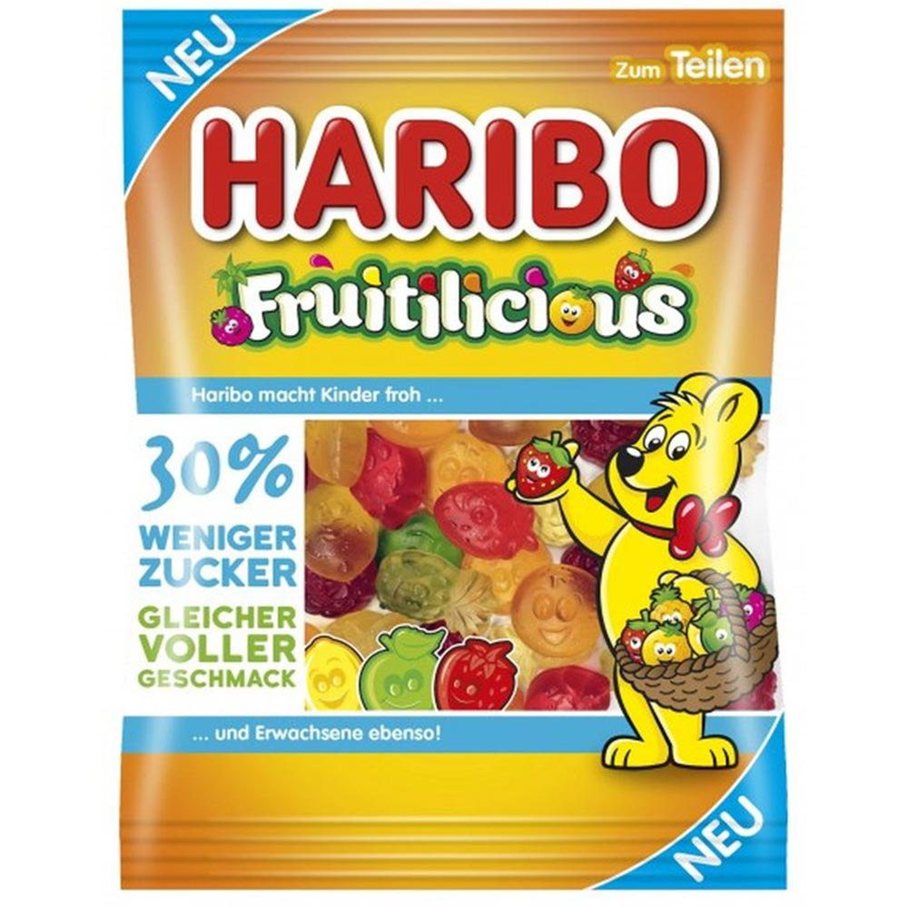 Haribo Fruitilicious Gummy Candy, 5.64oz (Product of Germany)