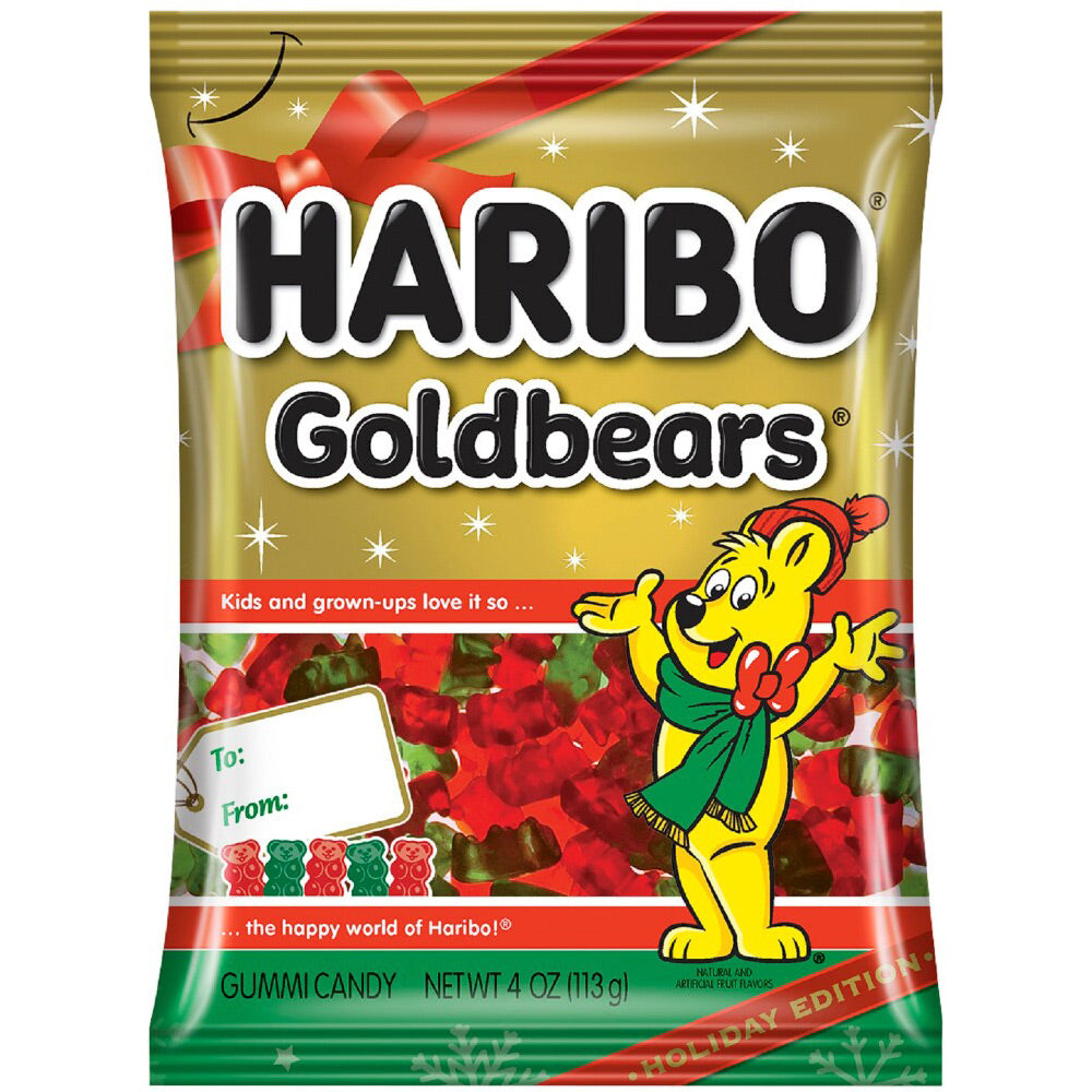Haribo Goldbears Holiday Red & Green Gummies, 4oz