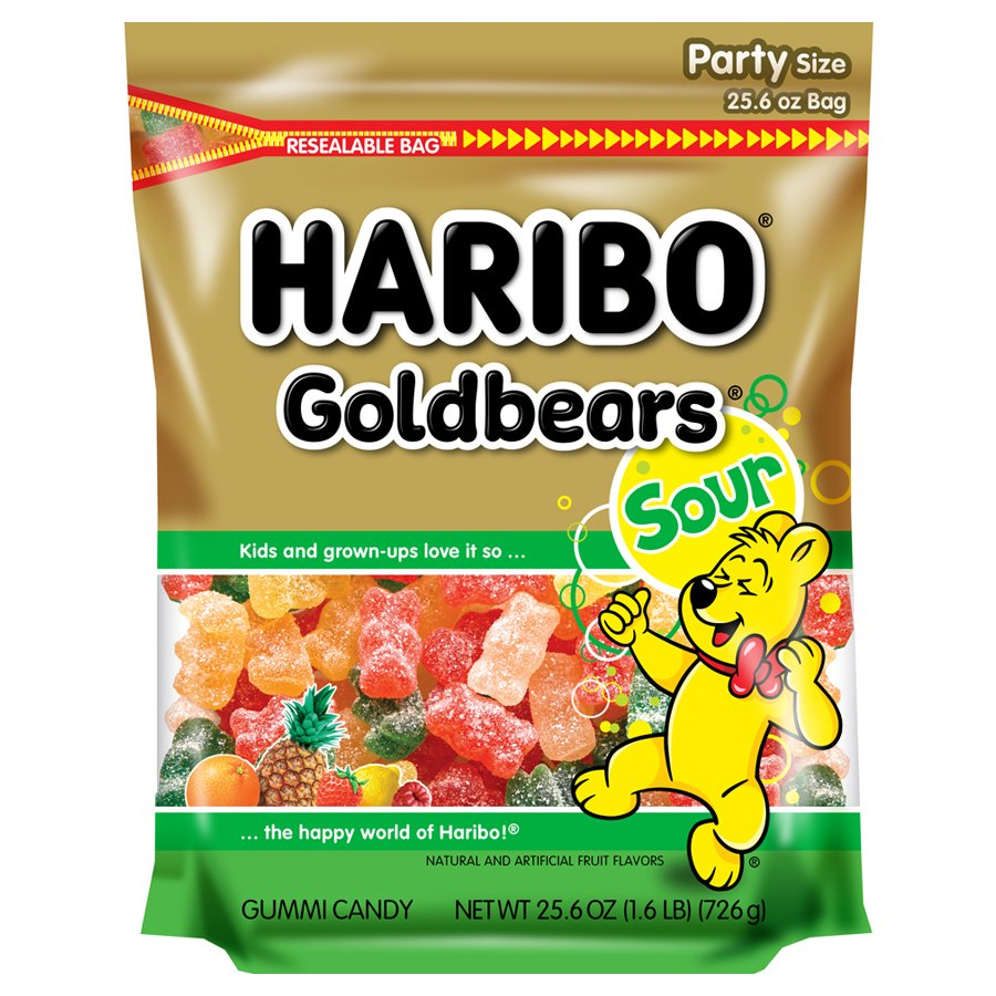 Haribo Goldbears, Sour, Party Size, 25.6oz