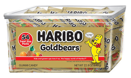 Haribo Goldbears Original, Individually Wrapped, 54 Count, 22.8 Ounce