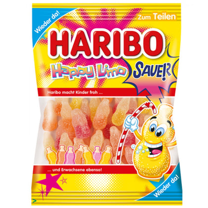 Haribo Sauer Happy Limo Candy, 175g (Product of Germany)