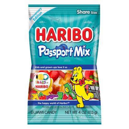 Haribo Passport Mix, Anniversary Edition, Gummi Candy, 4oz
