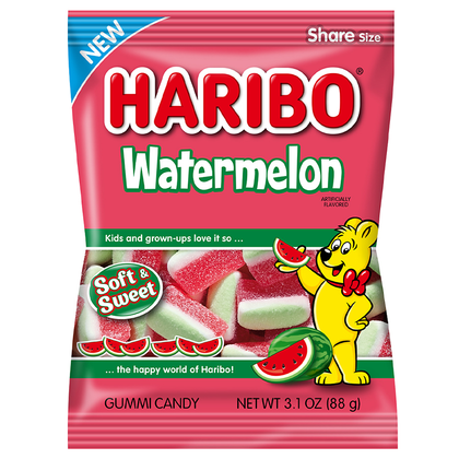 Haribo Watermelon Gummi Candy, 3.1oz