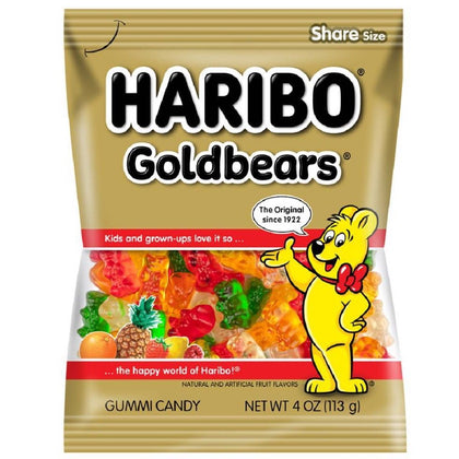 Haribo Gold Bears Gummi Candy, 4oz