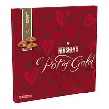 Hershey's Pot Of Gold Valentine's Pecan Caramel Clusters, 10oz