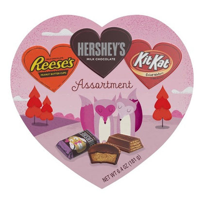 Hershey's Valentine's Assortment, Heart Box, 6.4oz