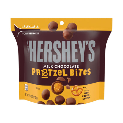 Hershey's Milk Chocolate Covered Pretzel Bites Snack, 7.5 Oz