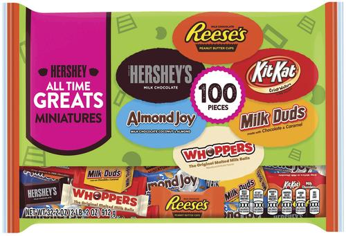 Hershey All Time Greats® Miniatures Halloween Assortment, 100 Pieces, 32.2oz