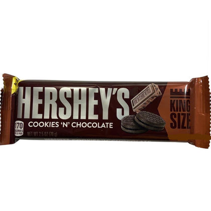 Hershey's Cookies 'N' Chocolate Bar, King Size, 2.5oz