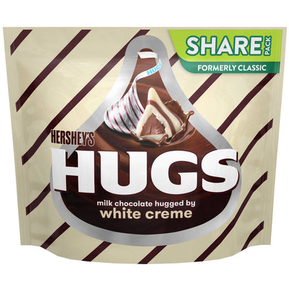 Hershey's Hugs Chocolate with White Creme Candy, 10.6oz