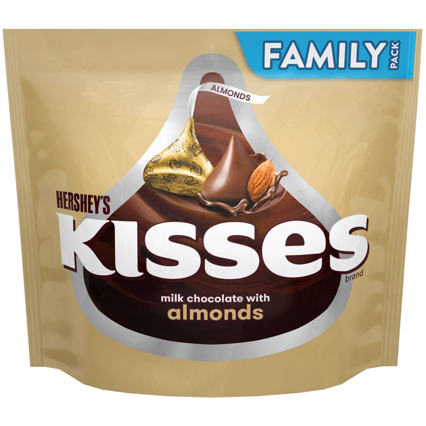 Hershey's, Kisses Family Pack, Milk Chocolate with Almonds, 16oz