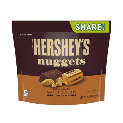 Hershey's Nuggets Toffee Almond Milk Chocolate, Share Size, 10.2oz