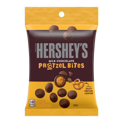 Hershey's Milk Chocolate Covered Pretzel Bites Snack, 2.3 Oz