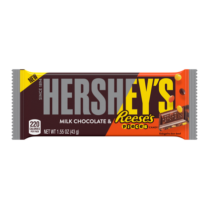 Hershey's Milk Chocolate & Reese's Pieces Bar, 1.55 oz