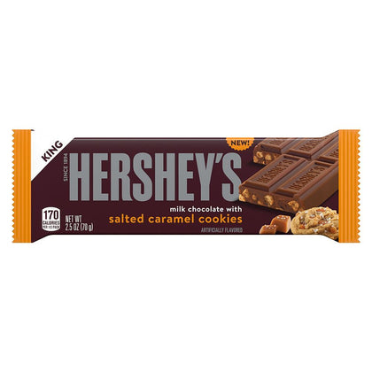 Hershey's Milk Chocolate Salted Caramel Cookies Bar, King Size, 2.5oz