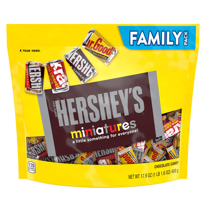 Hershey's Miniatures Assortment Chocolate Candy, Family Pack, 17.6oz