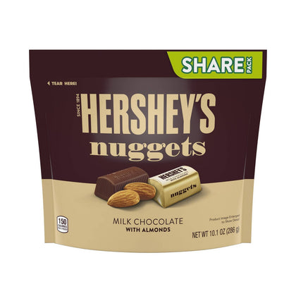 Hershey's Nuggets Milk Chocolate with Almonds, Share Size, 10.1oz