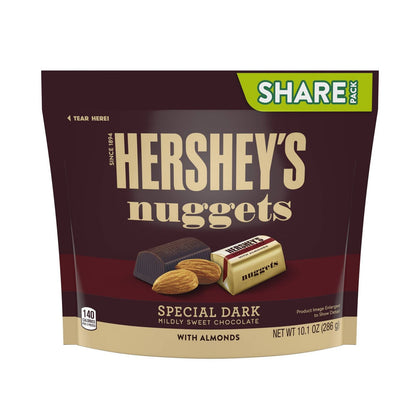Hershey's Nuggets Dark Chocolate with Almonds, Share Size, 10.1oz