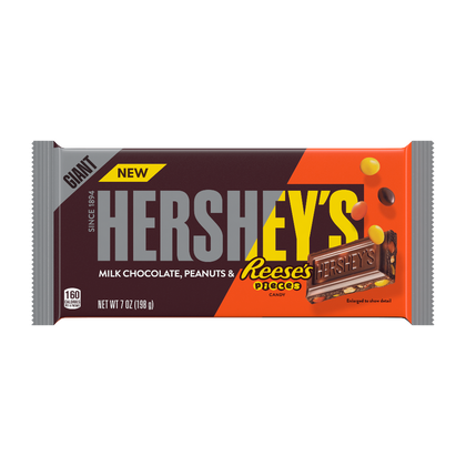 Hershey's Milk Chocolate with Reese's Pieces Giant Candy Bar, 7oz