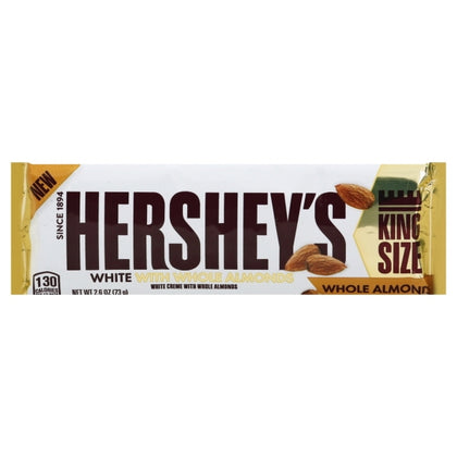 Hershey's White Crème with Whole Almonds Bar, King Size, 2.6oz