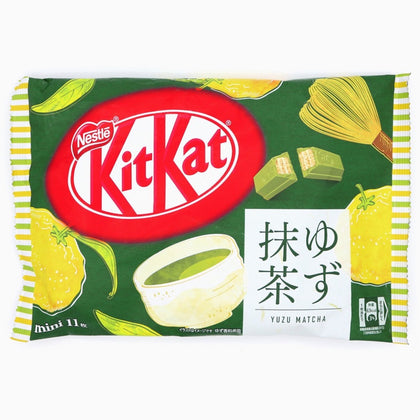 Nestle Kit Kat Yuzu Matcha Limited Edition Miniatures, 4.4oz (Product of Japan)