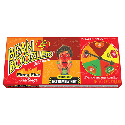 Jelly Belly BeanBoozled Fiery Five, 3.5oz Spinner Gift Box