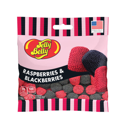 Jelly Belly Raspberries and Blackberries 2.75 oz