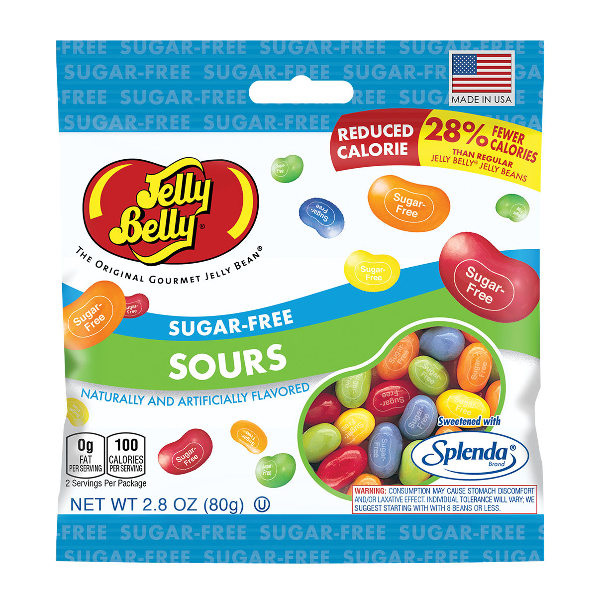 Jelly Belly Sugar-Free Sours Jelly Beans, 2.8oz