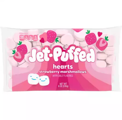 Jet-Puffed Hearts Strawberry Marshmallows, 8oz