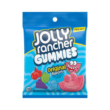 Jolly Rancher Original Flavor Gummy Candy, 3.7oz