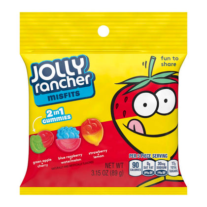 Jolly Rancher Misfits Gummy Candy, 3.15 Oz