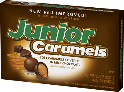 Junior Caramels Candy, 3.6oz