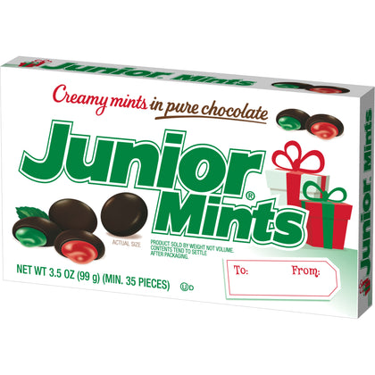 Junior Mints Red & Green Christmas Mints, Gift Box, 3.5oz