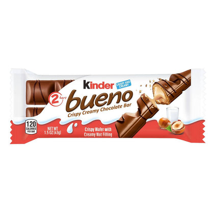 Kinder Bueno Hazelnut Chocolate Candy Bars, 1.5oz