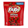 Kit Kat Unwrapped Mini Chocolate Candy, Family Pack, 14oz