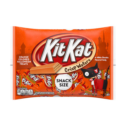 Kit Kat Halloween Orange Colored White Crème Wafer Bars Candy, 10.29oz