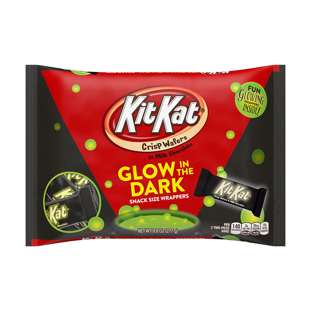 Kit Kat Halloween Snack Size with Glow in the Dark Wrappers, 9.8oz