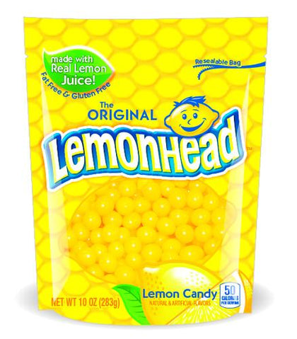 The Original Lemonhead Lemon Candy Pouch, 10 Oz