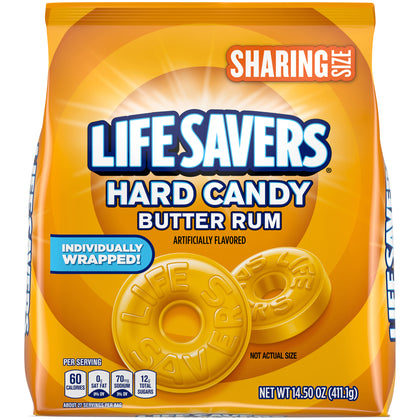 Life Savers Butter Rum Hard Candy, Sharing Size, 14.5oz